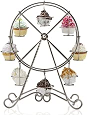 Giant Wheel Cup Cake Muffins Decorating Stand - Stainless Steel