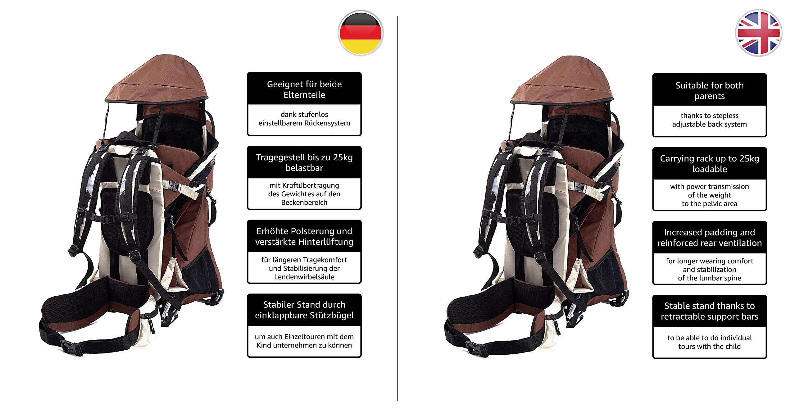 MONTIS RANGER PRO - Premium Backpack/Child Carrier - Holds up to 25kg M MONTIS OUTDOOR  4