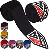 RDX Boxing Hand Wraps Inner Gloves, 4.5 Meter 180 Inches Elasticated Thumb Loop Bandages, Under Mitts Wrist Hand Protection,