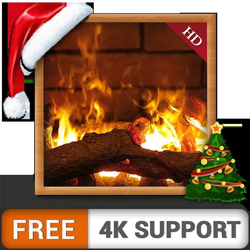 Ambiente caminetto HD gratuito - Goditi le vacanze invernali di Natale al massimo delle altezze con la tua TV HDR 4K e i dispositivi Fire come sfondo e tema per la mediazione e la pace