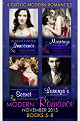 Modern Romance November 2015 Books 5-8: Unwrapping the Castelli Secret / A Marriage Fit for a Sinner / Larenzo's Christmas Baby / Bought for Her Innocence Kindle Edition