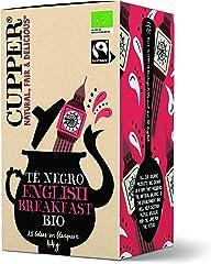 CUPPER Té Negro English Breakfast Bio, 20 Bolsas