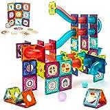 VATOS magnetische bouwstenen, 125-delige grote constructie STEM-bouwstenen set, Montessori-speelgoed voor kinderen van 3-8 ja