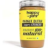 Happy Jars Jaggery Crunchy Peanut Butter (290g), 10g Protein, Natural, No Sugar