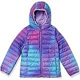 Amazon Essentials Girls' Lightweight Water-Resistant Packable Hooded Puffer Jacket Niñas