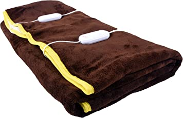 Cozyland Double Bed Electric Bed Warmer - Coffee (Brown)