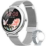 NAIXUES Smartwatch Donna, Orologio Fitness IP67 Impermeabile Smart Watch da Donna Notifiche Messaggi Contapassi Calorie Cardi