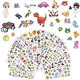 Vicloon Pegatinas para Niños 1000+3D Puffy Pegatinas, 38 Hojas Pegatinas Infantiles para Gratificantes Regalos Scrapbooking Q