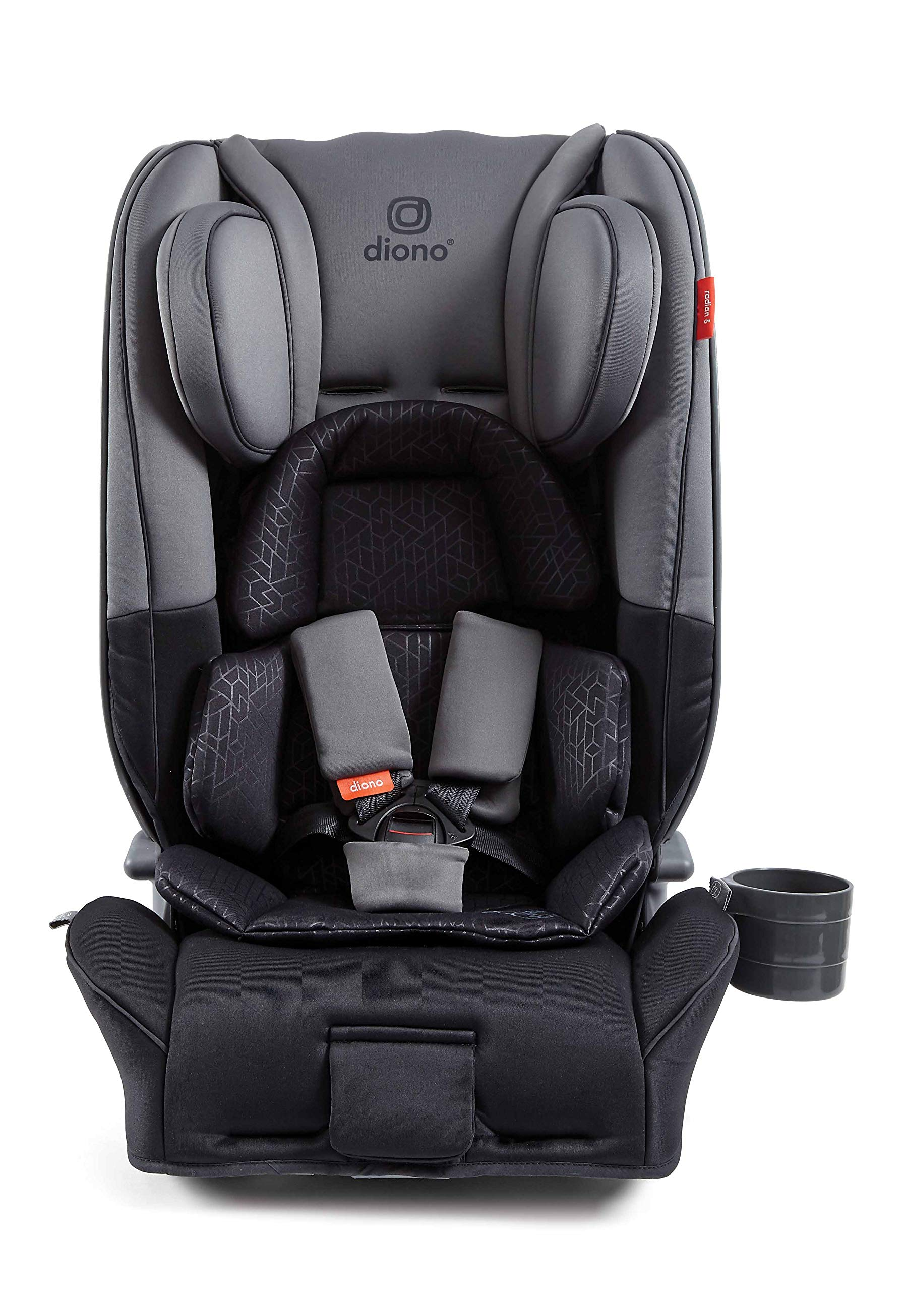 Diono Radian 5, Group 0+/1/2 Car Seat, Extended Rear-Facing from Birth to 25kg, Forward-Facing 9-25kg, Dark Grey Diono The Original 3 Across Car Seat: Radian 5's clever design has a slimline profile allowing you to install three across in your vehicle without compromising internal seat dimensions or comfort. Worth the weight: Engineered with the famous Diono full, high-strength steel core that forms an unyielding structure to shield and protect your little one. Extended rear-facing: Keep your little ones in the safest travel position for as long as possible, from birth up to 25 kgs (approx. 6 years old). 1