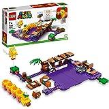 LEGO 71383 Super Mario Wiggler's Vergiftigde Moeras-Uitbreidingsset, Verzamelbare Modulaire Speelset met Goomba en Koopa Para