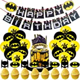 Ultimate Batman Themed Birthday Party Docration Set for Kids Party Decorations balloon Best Birthday Party Batman Supplies