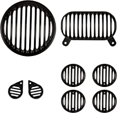 Autofy Plastic Grill for Royal Enfield Electra 500 & Bullet 500 (Set of 8)