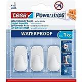 tesa Powerstrips Waterproof Hooks S plastic white