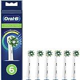 Oral-B CrossAction Cabezales de Recambio Tamaño Buzón, Pack de 6 Recambios Originales con tecnología CleanMaximiser para Cepi