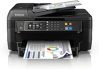 Epson C11CF77402 WorkForce WF-2760DWF 4-in-1 Multifunktionsdrucker (Drucken, Duplex, Scannen, Kopieren, Faxen, WiFi, Dokumenteneinzug) schwarz