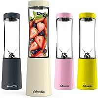 DETOXIMIX MINI Blender ultra compact 150 W - 2 bouteilles de transport plastique SANS BPA 280ml et livret de recettes…