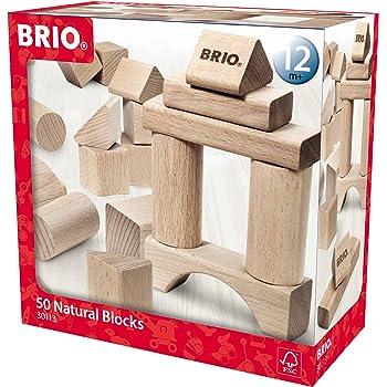 BRIO Infant & Toddler - 50pc Building Blocks - Natural