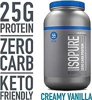 Isopure Zero Carb Protein Powder, 100% Whey Protein Isolate, Gluten Free / Lactose Free, Keto Friendly, Flavor: Creamy Vanil