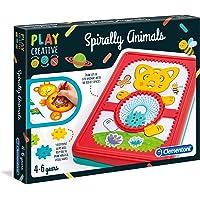 Clementoni Play Spirally Animals-fabriqué en Italie-kit de Loisir créatif, 4 Ans et Plus, 15275, Multicolore
