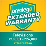 Onsitego 2 Years Extended Warranty for TVs from Rs. 18001 to Rs. 26000 (Email Delivery in 2 Hours)