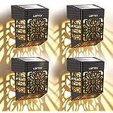 LOFTEK Lampe Murale Solaire Exterieur Éclairage Extérieur Sans Fil IP54 Lumière Fleur Creuse Rétro Décorative pour Mur, Clôtu
