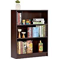 DeckUp Muvo 3-Shelf Engineered Wood Book Shelf and Display Unit (Dark Wenge, Matte Finish)