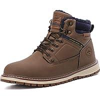 ARRIGO BELLO Mens Walking Boots Winter Snow Hiking Trekking Ankle Non-Slip Warm Leather Outdoor Boot Size 7-11UK