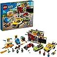 LEGO City Nitro Wheels Autofficina, Set da Costruzione, Macchine Giocattolo per Bambini, con Carro Attrezzi, Hot Rod, Roulott