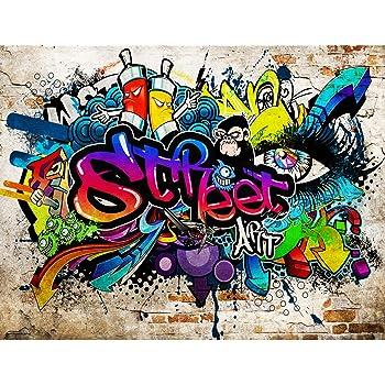 fototapeten graffiti streetart 352 x 250 cm vlies wand. Black Bedroom Furniture Sets. Home Design Ideas