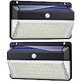 Lampe Solaire Extérieur 228 LED, Trswyop [2Pack-2000Lumiere-2200mah] Détecteur de Mouvement éclairage Solaire Puissante étanc