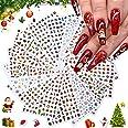 Kalolary 16P Kerst Nail Art Stickers, 3D Kerst Zelfklevende Nagelstickers Kerstman Sneeuwvlok Sneeuwpop Kerstbel Elanden DIY