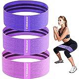 Haquno Elastici Fitness[1-2-3Pcs], Fascia Fitness in Tessuto con più Livelli di Resistenza, Adatta per Esercizi a Breve Dista