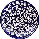 SHIV KRIPA BLUE ART POTTERY Ceramic Decorative Wall Hanging (17 x 17 x 3 cm, Blue)