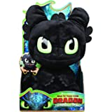 "How to Train Your Dragon Toy - Squeeze & Roar Toothless 11"" Plush with Sounds, for Kids Aged 4 and Above"