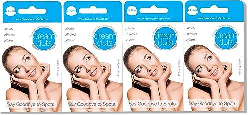 Dream Dots gegen Pickel 4er Set (96 Patches), Pickel verschwinden im Schlaf über Nacht, Akne Behandlung, Akne Patches …