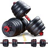SPORTSTECH 2 in 1 innovatie halterset AH150 | korte halters & lange halters & lange halters | halters van 20kg, 30kg, 40kg se