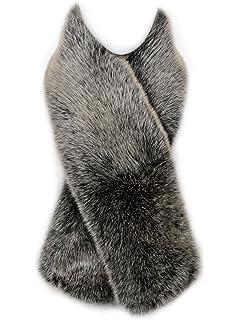 ea15310499e Futrzane Droit Echarpe Fausse Fourrure de Renard Dames Châle Col en Fourrure  d hiver