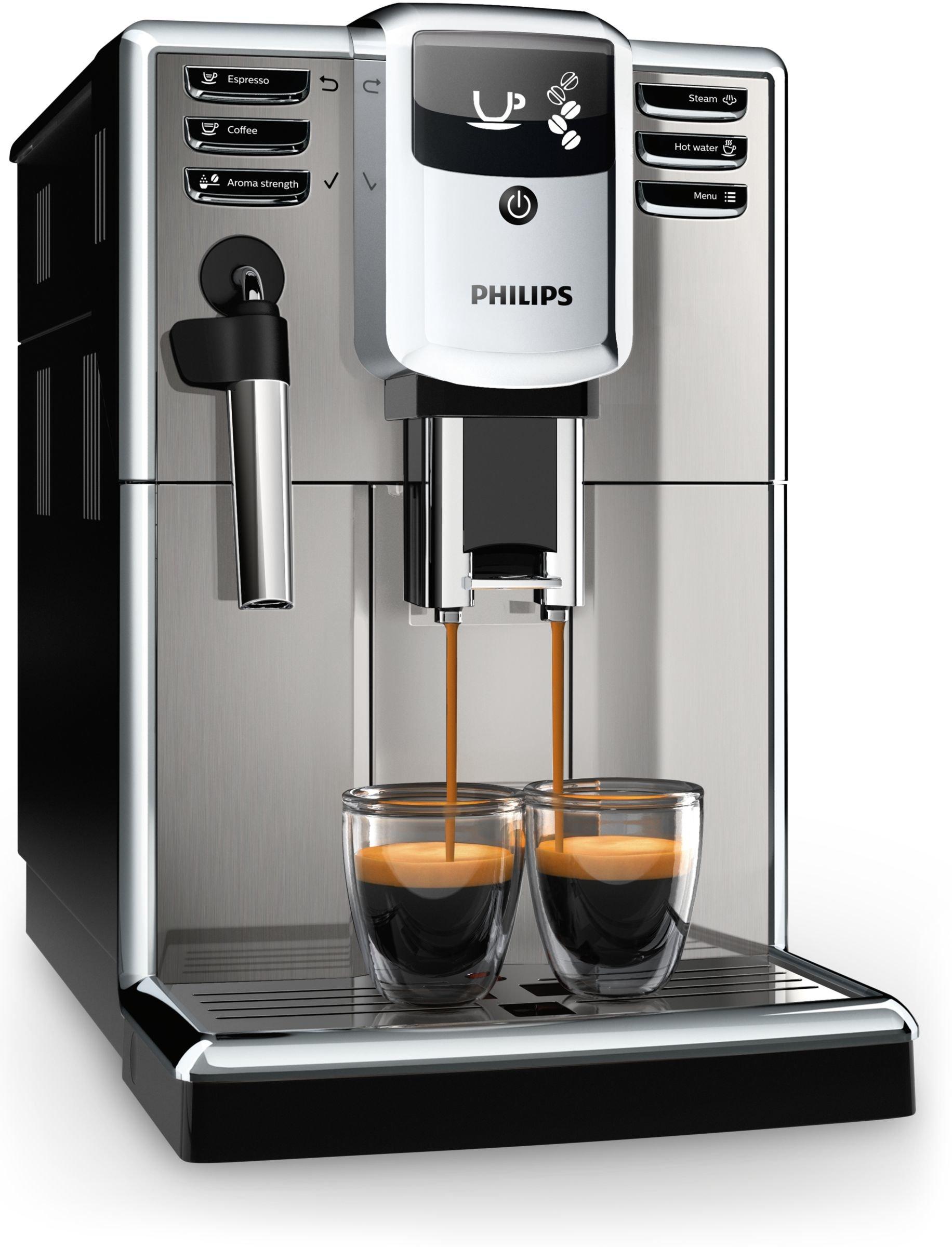 Philips-Kaffeevollautomat-EP531510-Vollkaffeeautomat-Kunststoff-18-liters-Schwarz-Edelstahl