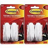 Command Designer Hooks BP1PTF, Medium, White, 4-Hooks