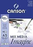 Canson 200006009 Imagine Mix-Media Papier, A5, rein weiß