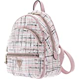 Guess Hwtg69-94330-ptw, Manhattan Large Backpack Donna, Tweed Rosa, M