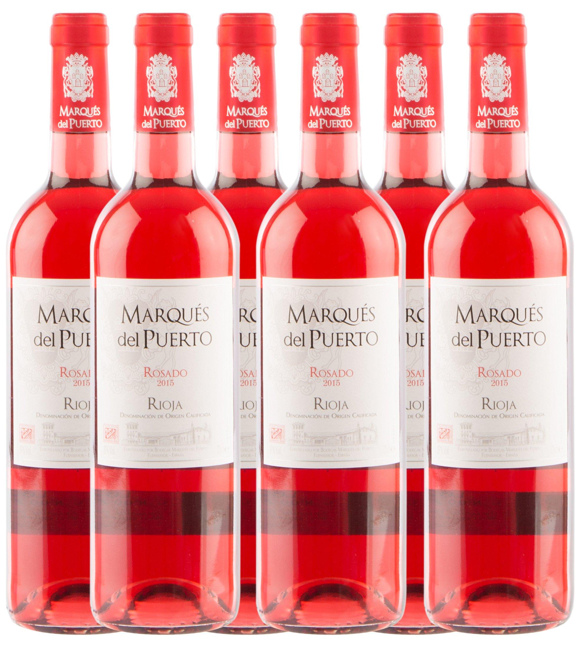 Sander's Selection Vino Marqués del Puerto Rosado - Paquete de 6 x 750 ml - Total: 4500 ml