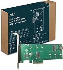 Vantec NVMe, M.2 SATA SSD PCIe x4 Adapter (UGT-M2PC200)