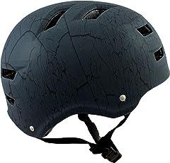 Skullcap BMX Helm ☢ Skaterhelm ☢ Fahrradhelm ☢, Herren | Damen, Schwarz Matt & glänzend