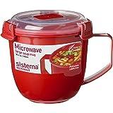 Sistema SI1141 Tasse à soupe, Plastique, Rouge, 13 x 13 x 12,5 cm