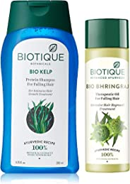 Biotique Bio Kelp Fresh Growth Protein Shampoo, 200ml and Biotique Bio Bhringraj Fresh Growth Therapeutic Oil, 120ml