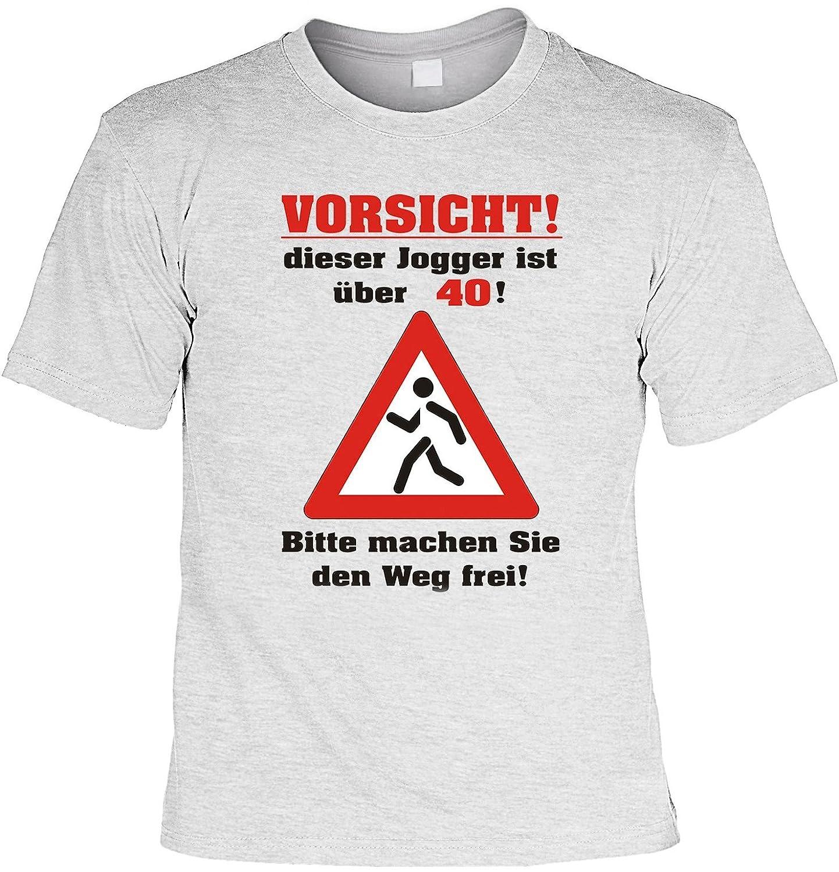Geburtstag Lustiges Läufer Sprüche Tshirt   Vorsicht! Dieser Jogger Ist  über 40! Läufer Sportler Fun Geschenke Set T Shirt Mit Urkunde : ) Auf  Amazon.de:T  ...