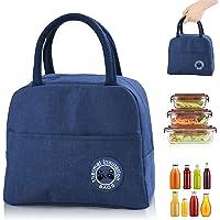 Sac Isotherme Repas, Sac de Transport Repas Lunch Bag Portable Sac Lunch Box Bag à Déjeuner Waterproof, pour Bureau l…