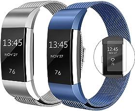 super vaule Für Fitbit Charge 2 Armband, Milanese Fitbit Charge 2 Ersatzarmband Edelstahl Fitbit Armbänder Charge 2 mit Magnet-Verschluss Armband für Fitbit Charge2