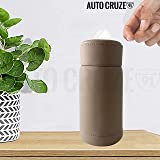 AUTOCRUZE PU Leather Cup Tissue Box with 50 Tissue Pulls fits or All Cup Holders for Car - Beige
